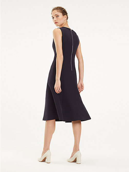 TOMMY HILFIGER Flared Midi Dress - MIDNIGHT - TOMMY HILFIGER Midi - detail image 1