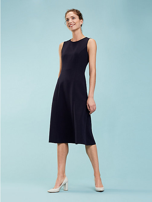 TOMMY HILFIGER Flared Midi Dress - MIDNIGHT - TOMMY HILFIGER Midi - main image