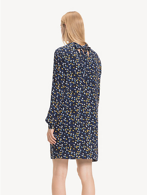 TOMMY HILFIGER Mock Neck Mini Dress - PAINTED MINIMAL / SKY CAPTAIN - TOMMY HILFIGER Dresses - detail image 1