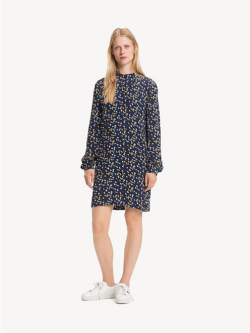 TOMMY HILFIGER Mock Neck Mini Dress - PAINTED MINIMAL / SKY CAPTAIN - TOMMY HILFIGER Dresses - main image