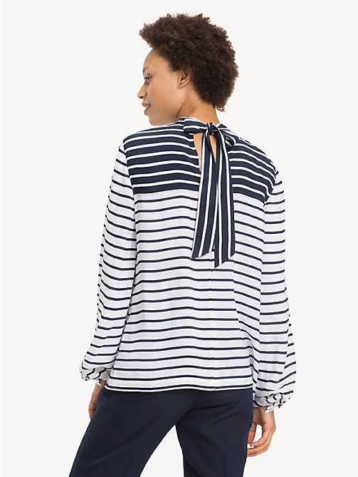 TOMMY HILFIGER All-Over Stripe Blouse - BRETON STP / CLASSIC WHITE - TOMMY HILFIGER Shirts - detail image 1