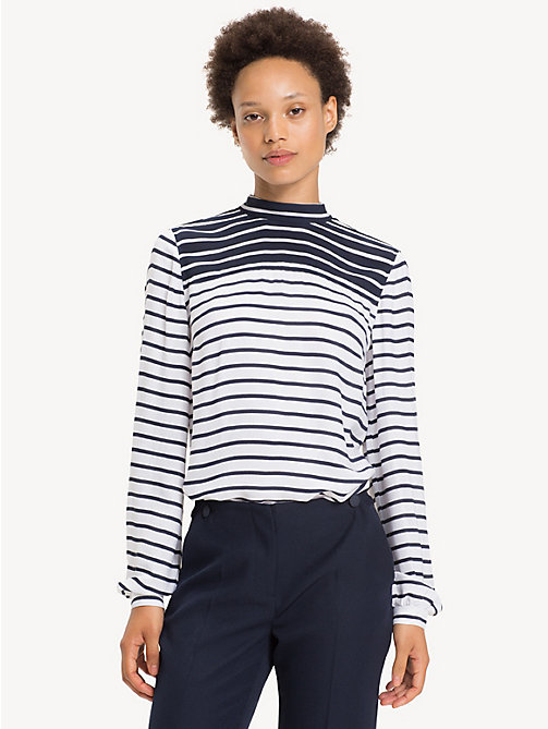 TOMMY HILFIGER All-Over Stripe Blouse - BRETON STP / CLASSIC WHITE - TOMMY HILFIGER Shirts - main image