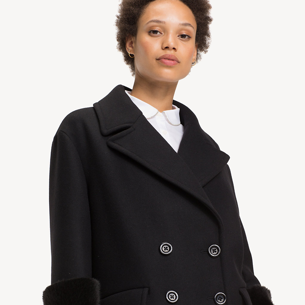 Tommy Hilfiger - Wool Blend Doubled Breasted Coat - 3