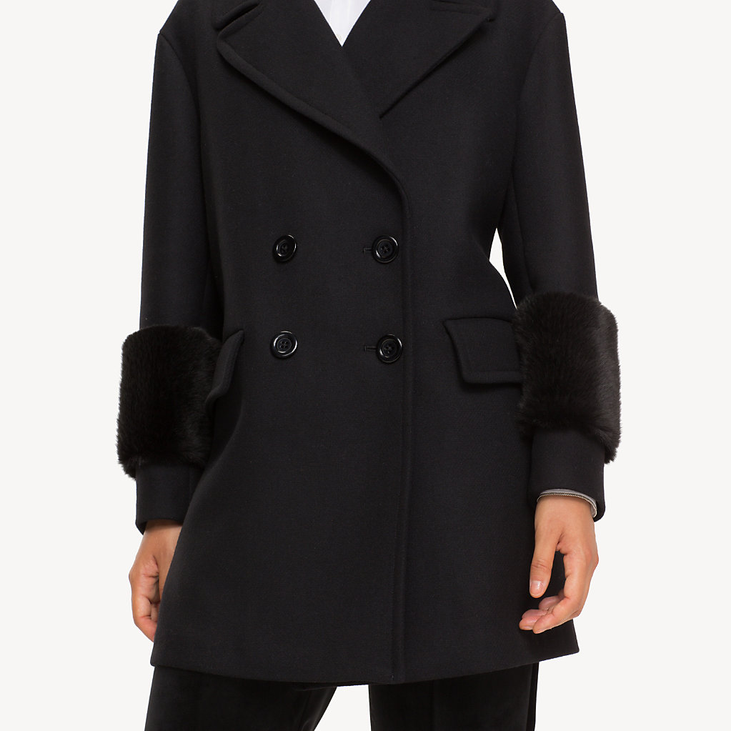 Tommy Hilfiger - Wool Blend Doubled Breasted Coat - 4