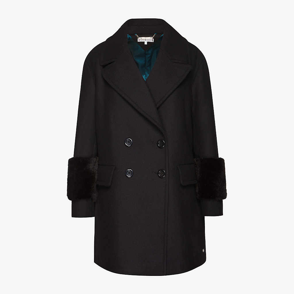 Tommy Hilfiger - Wool Blend Doubled Breasted Coat - 5