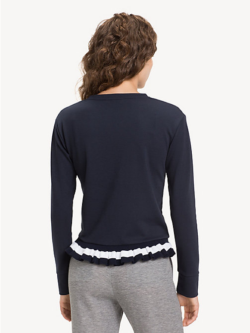 TOMMY HILFIGER Ruffle Hem Sweatshirt - MIDNIGHT - TOMMY HILFIGER NEW IN - detail image 1