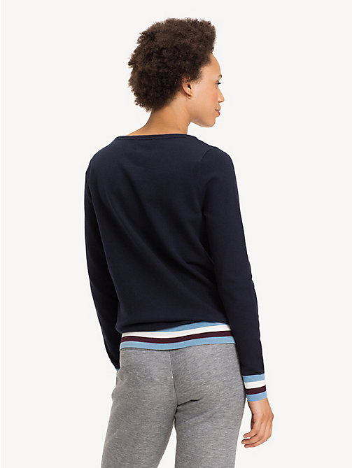TOMMY HILFIGER Colour-Blocked Boat Neck Jumper - MIDNIGHT - TOMMY HILFIGER Jumpers - detail image 1