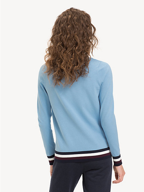 TOMMY HILFIGER Colour-blocked trui met boothals - DUSK BLUE - TOMMY HILFIGER Truien - detail image 1