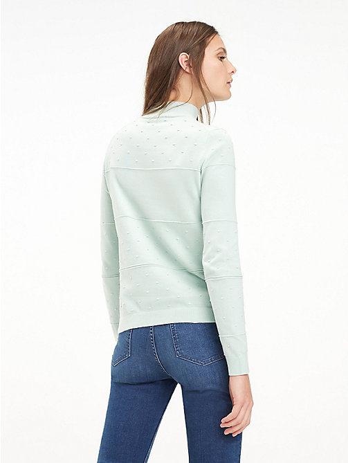 TOMMY HILFIGER Textured Organic Cotton Jumper - AQUA FOAM - TOMMY HILFIGER Sustainable Evolution - detail image 1