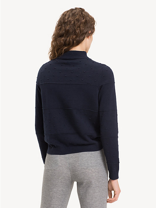 TOMMY HILFIGER Textured Organic Cotton Jumper - MIDNIGHT - TOMMY HILFIGER Sustainable Evolution - detail image 1