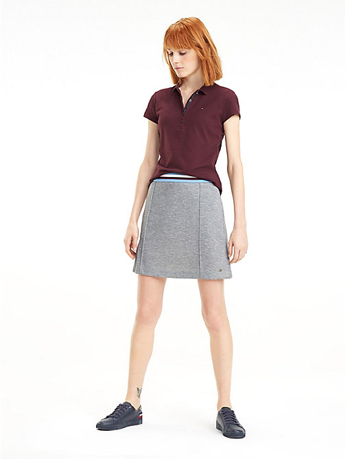 TOMMY HILFIGER Stripe Waistband Jersey Skirt - MEDIUM GREY HTR - TOMMY HILFIGER Skirts - main image