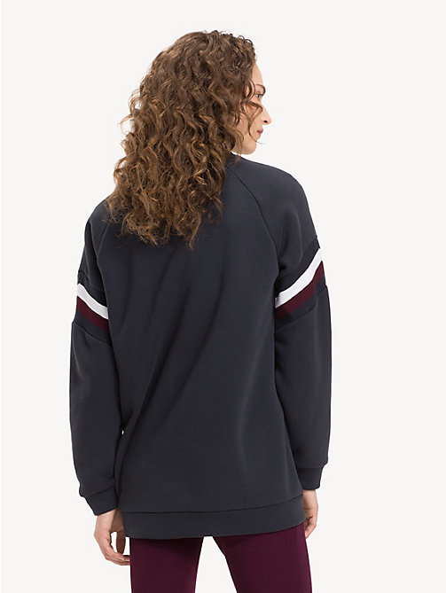 TOMMY HILFIGER Colour-Blocked Crew Neck Sweatshirt - MIDNIGHT - TOMMY HILFIGER NEW IN - detail image 1