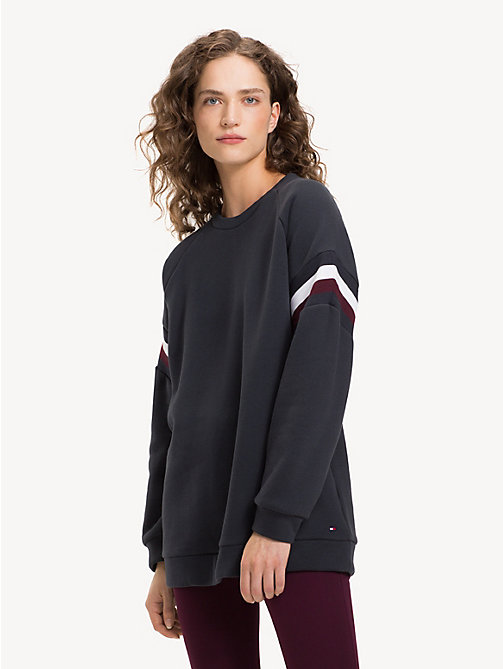 TOMMY HILFIGER Colour-Blocked Crew Neck Sweatshirt - MIDNIGHT - TOMMY HILFIGER NEW IN - main image