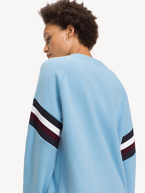 TOMMY HILFIGER Colour-Blocked Crew Neck Sweatshirt - DUSK BLUE - TOMMY HILFIGER Sweatshirts - detail image 1