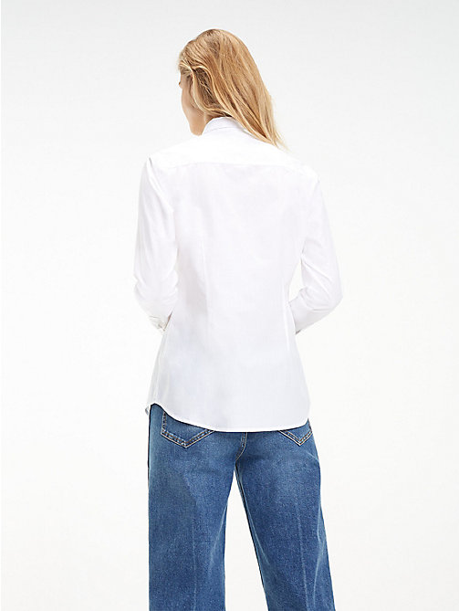 TOMMY HILFIGER Stretch Organic Cotton Shirt - CLASSIC WHITE - TOMMY HILFIGER Black Friday Women - detail image 1