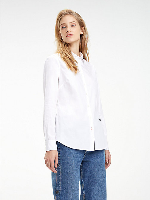 TOMMY HILFIGER Stretch Organic Cotton Shirt - CLASSIC WHITE - TOMMY HILFIGER Black Friday Women - main image