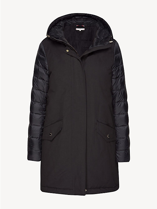 TOMMY HILFIGER Contrast Sleeve Padded Jacket - BLACK BEAUTY - TOMMY HILFIGER NEW IN - detail image 1