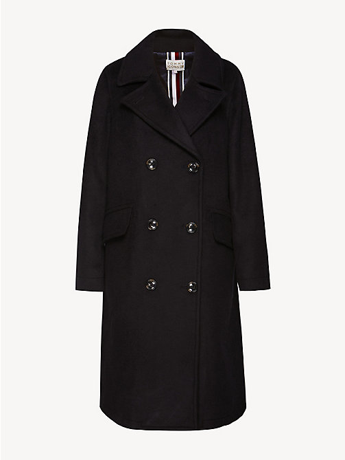 TOMMY HILFIGER Tommy Icons Double-Breasted Overcoat - BLACK BEAUTY - TOMMY HILFIGER TOMMY ICONS - detail image 1