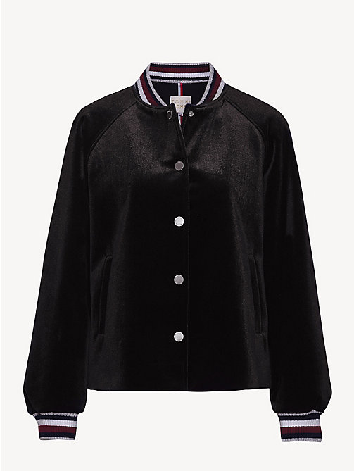 TOMMY HILFIGER Bomber in velluto Tommy Icons - BLACK BEAUTY - TOMMY HILFIGER TOMMY ICONS - dettaglio immagine 1
