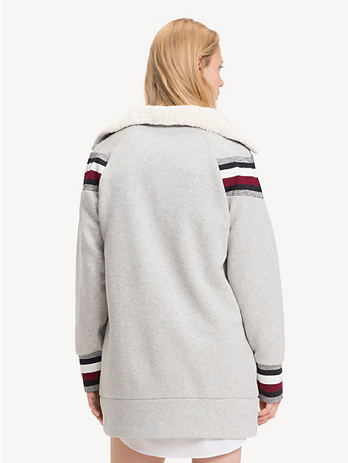 TOMMY HILFIGER Tommy Icons sweaterjurk - LIGHT GREY HTR - TOMMY HILFIGER Kleding - detail image 1