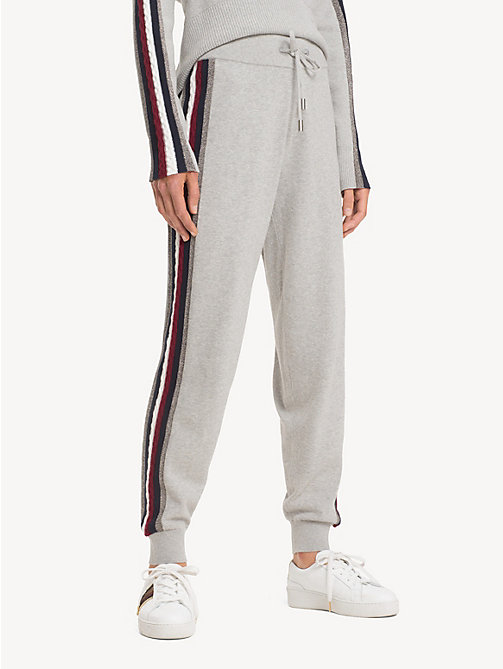TOMMY HILFIGER Pantalon de survêtement Tommy Icons - LIGHT GREY HTR - TOMMY HILFIGER TOMMY ICONS - image principale