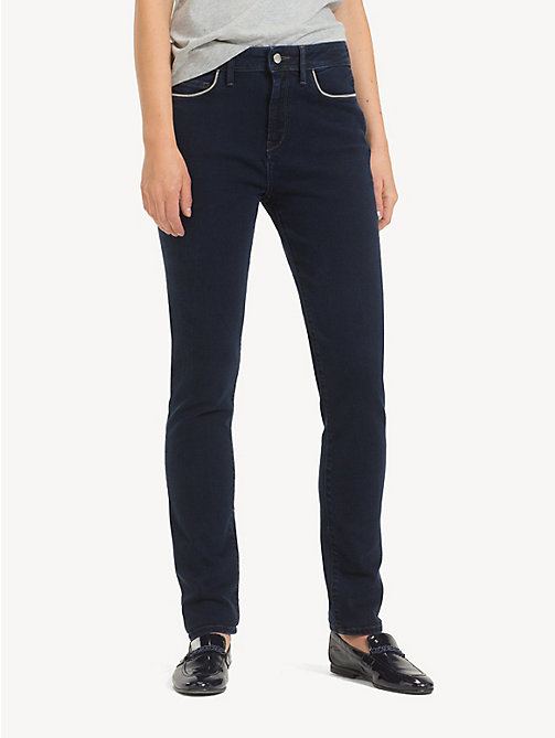 TOMMY HILFIGER Slim fit high rise jeans - ASTRA - TOMMY HILFIGER Slim fit jeans - main image