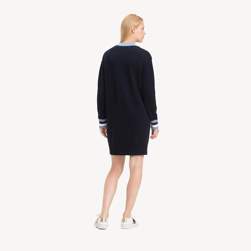 Tommy Hilfiger - Pulloverkleid mit Chevron-Streifen - 2