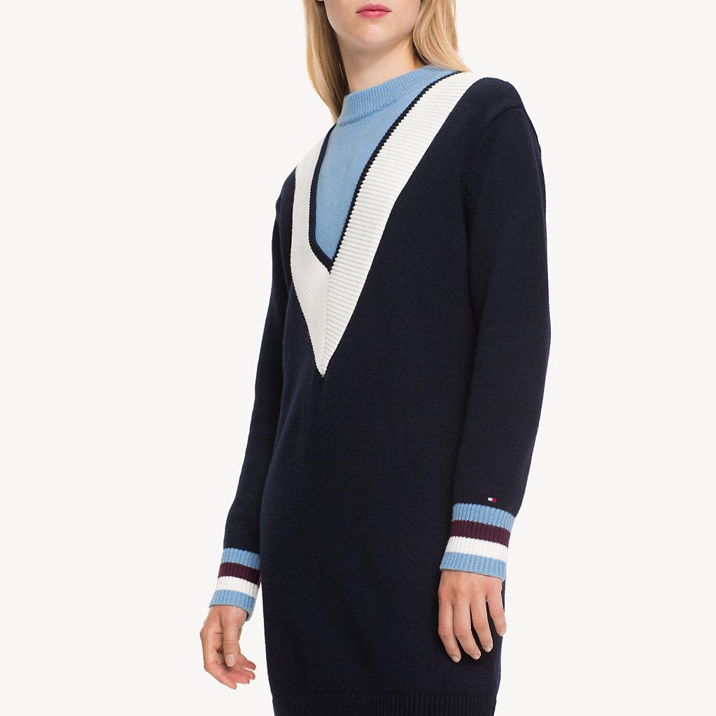 Tommy Hilfiger - Pulloverkleid mit Chevron-Streifen - 3