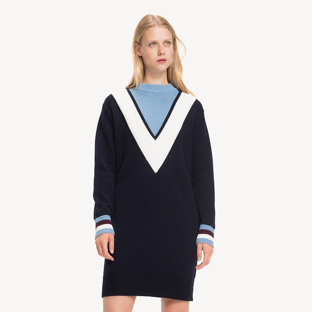 Tommy Hilfiger - Pulloverkleid mit Chevron-Streifen - 4