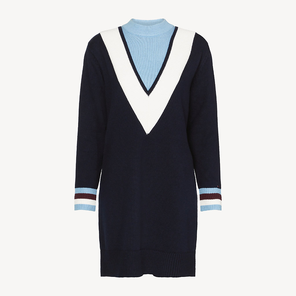 Tommy Hilfiger - Pulloverkleid mit Chevron-Streifen - 5
