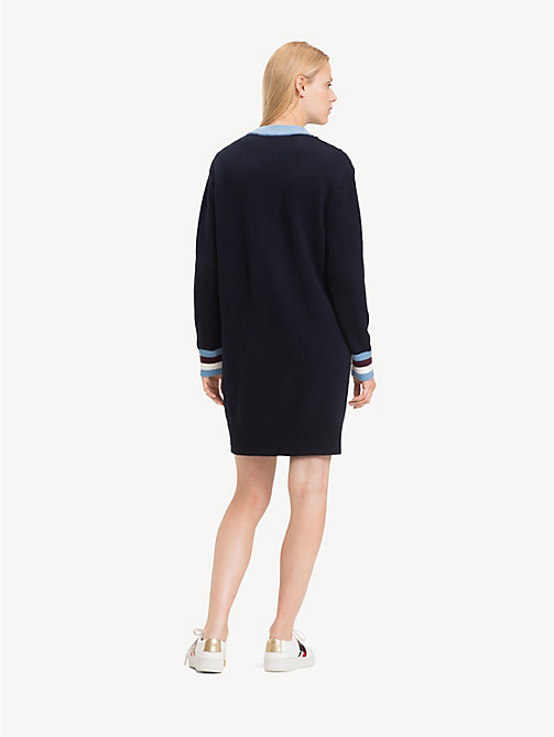 TOMMY HILFIGER Chevron Jumper Dress - SKY CAPTAIN / DUSK BLUE MULTI - TOMMY HILFIGER Jumper Dresses - detail image 1