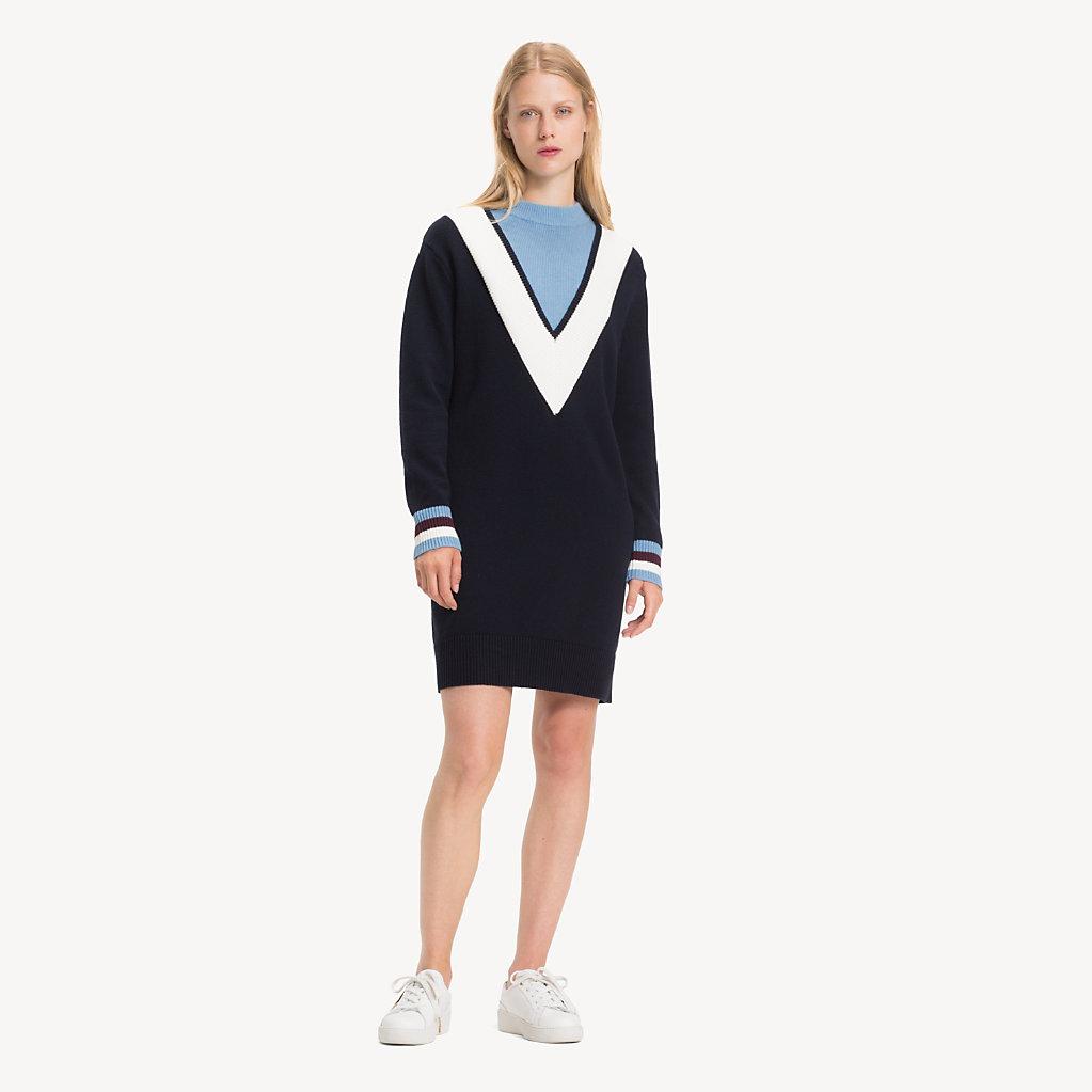 Tommy Hilfiger - Pulloverkleid mit Chevron-Streifen - 1
