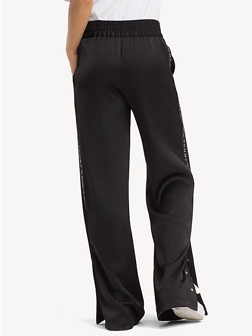 TOMMY HILFIGER Tommy Icons flared broek - BLACK BEAUTY - TOMMY HILFIGER Kleding - detail image 1