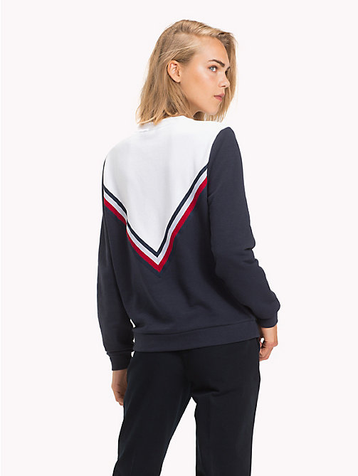 TOMMY HILFIGER Global Stripe Crew Neck Sweatshirt - MIDNIGHT - TOMMY HILFIGER Signature stripes - detail image 1