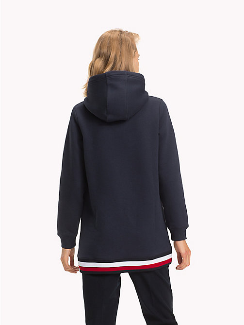 TOMMY HILFIGER Global Stripe Oversized Fit Hoody - MIDNIGHT - TOMMY HILFIGER Signature stripes - detail image 1