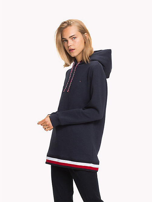 TOMMY HILFIGER Felpa oversize con cappuccio e righe global - MIDNIGHT - TOMMY HILFIGER Righe iconiche - immagine principale