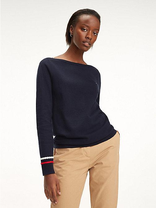 ceb84b6fdd215c TOMMY HILFIGERPlait Cuff Sweater. £90.00. SKY CAPTAIN. x