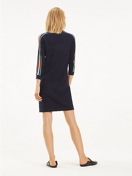 TOMMY HILFIGER Mulitcolour Tape Jumper Dress - SKY CAPTAIN - TOMMY HILFIGER Jumper Dresses - detail image 1