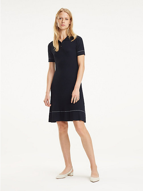77849361a404 TOMMY HILFIGERPleat Polo Shirt Dress
