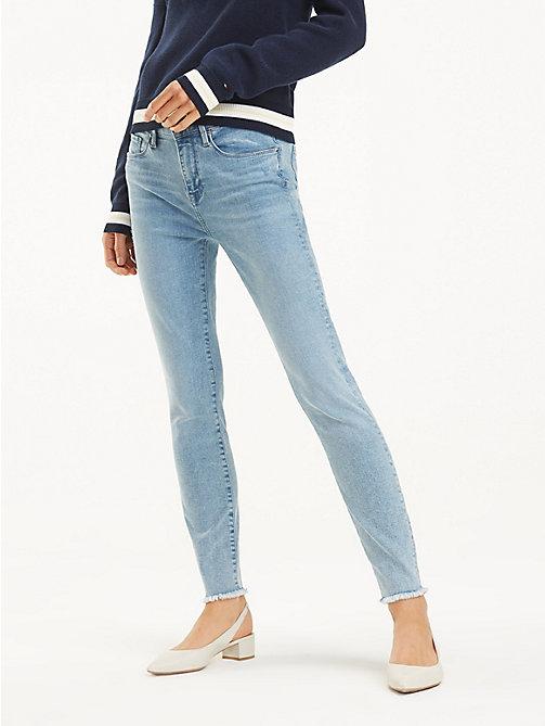 4e2c4c0d733e jeans skinny fit con orlo tagliato a vivo como denim da donna tommy hilfiger