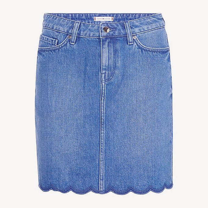 top fashion variety design amazing price Scalloped Hem Denim Skirt | DENIM | Tommy Hilfiger