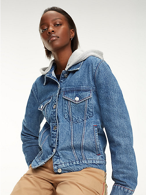 2ea27cb951d33 TOMMY HILFIGERHooded Denim Jacket