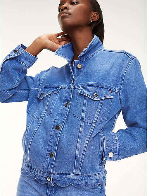 dac7001e7e47 TOMMY HILFIGERScalloped Hem Denim Jacket