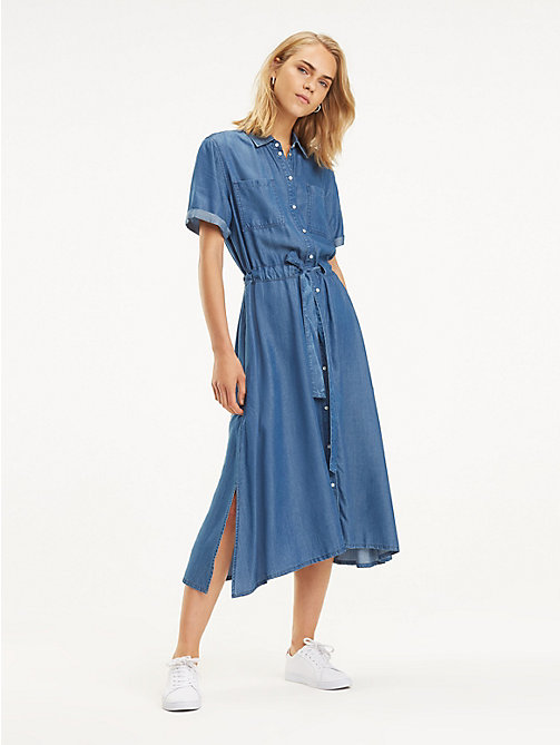 0c209cf9c595 TOMMY HILFIGERDenim Midi Dress