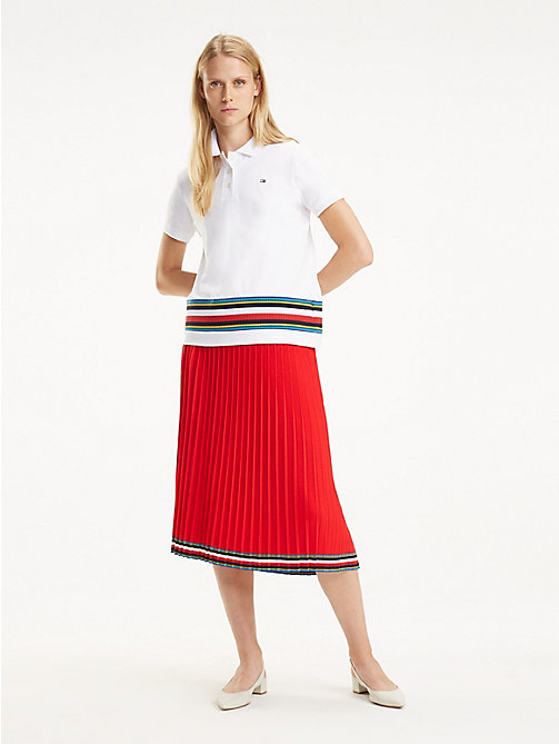TOMMY HILFIGER Polo a righe multicolore - CLASSIC WHITE - TOMMY HILFIGER Polo - immagine principale