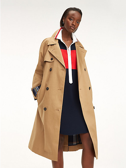 TOMMY HILFIGER Contrast Cuff Trench Coat - CLASSIC CAMEL - TOMMY HILFIGER NEW IN - main image