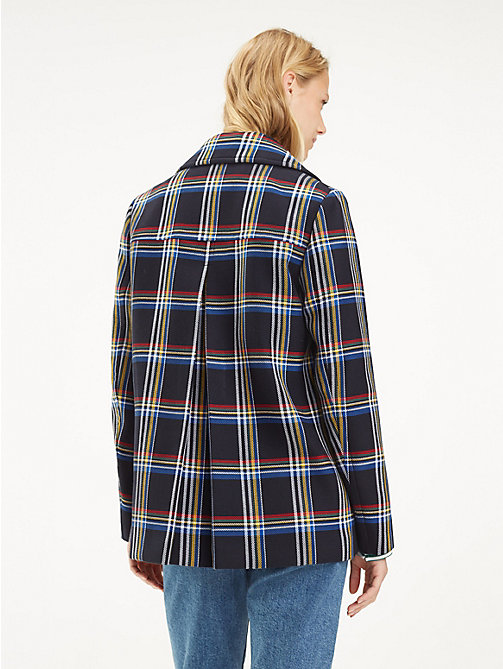 TOMMY HILFIGER Plaid Print Peacoat - OUTERWEAR CHECK / MIDNIGHT - TOMMY HILFIGER NEW IN - detail image 1