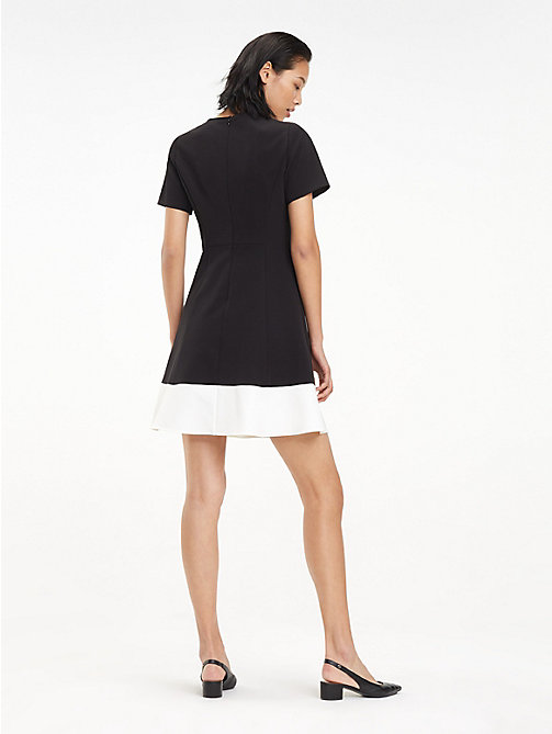 TOMMY HILFIGER Colour-Blocked A-Line Dress - BLACK BEAUTY - TOMMY HILFIGER Mini - detail image 1