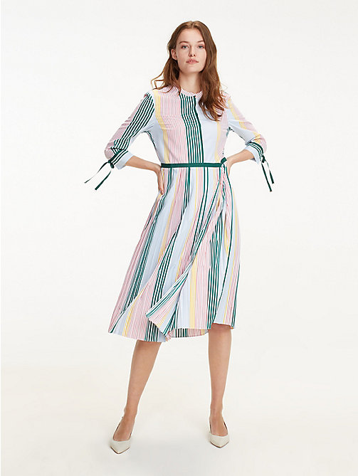 8fa0cedc61f1 TOMMY HILFIGERPleated Stripe Dress