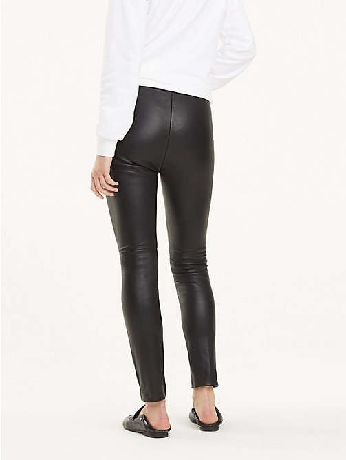 TOMMY HILFIGER Slim Fit Leather Trousers - BLACK BEAUTY - TOMMY HILFIGER Trousers - detail image 1
